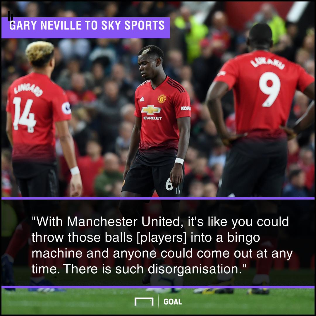 Gary Neville Manchester United bingo no organisation