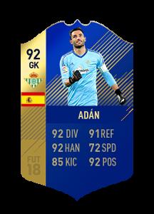 FIFA 18 La Liga Team of the Season Adan