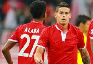 James Rodríguez camiseta Bayern amistoso