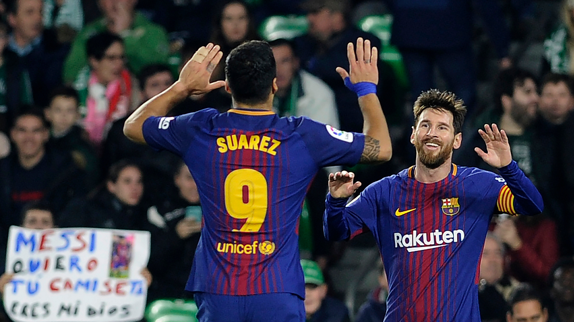Brace for Messi and Suarez as Barca win 10-goal rout