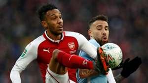 Pierre-Emerick Aubameyang Arsenal Nicolas Otamendi Manchester City