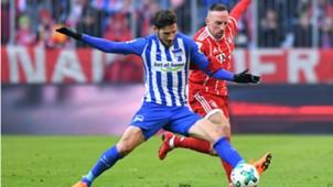 Matthew Leckie Franck Ribery FC Bayern Hertha BSC 24022018