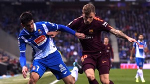 Gerard Moreno Lucas Digne Espanyol Barcelona Copa del Rey 17012018