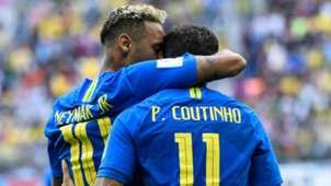 Neymar Philippe Coutinho Brazil 2018