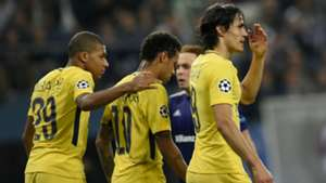 Kylian Mbappe Neymar Edinson Cavani PSG UCL 10182017