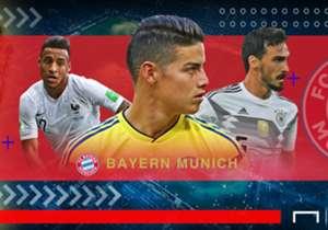 Para penggawa Bayern Munich yang mendominasi tim juara bertahan Jerman tampil di bawah ekspektasi di Piala Dunia 2018 seiring eliminasi dini Die Nationalmannschaft di fase grup. Bagaimana dengan pemain-pemain Die Roten yang membela negara lain?