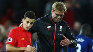 Philippe Coutinho Jurgen Klopp Liverpool Premier League