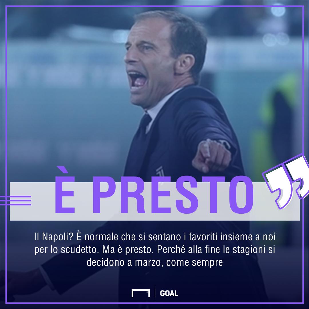 Juventus, Allegri avvisa Sarri: