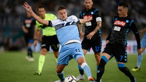 Sergej Milinkovic-Savic Jose Maria Callejon Lazio Napoli Serie A 08182018