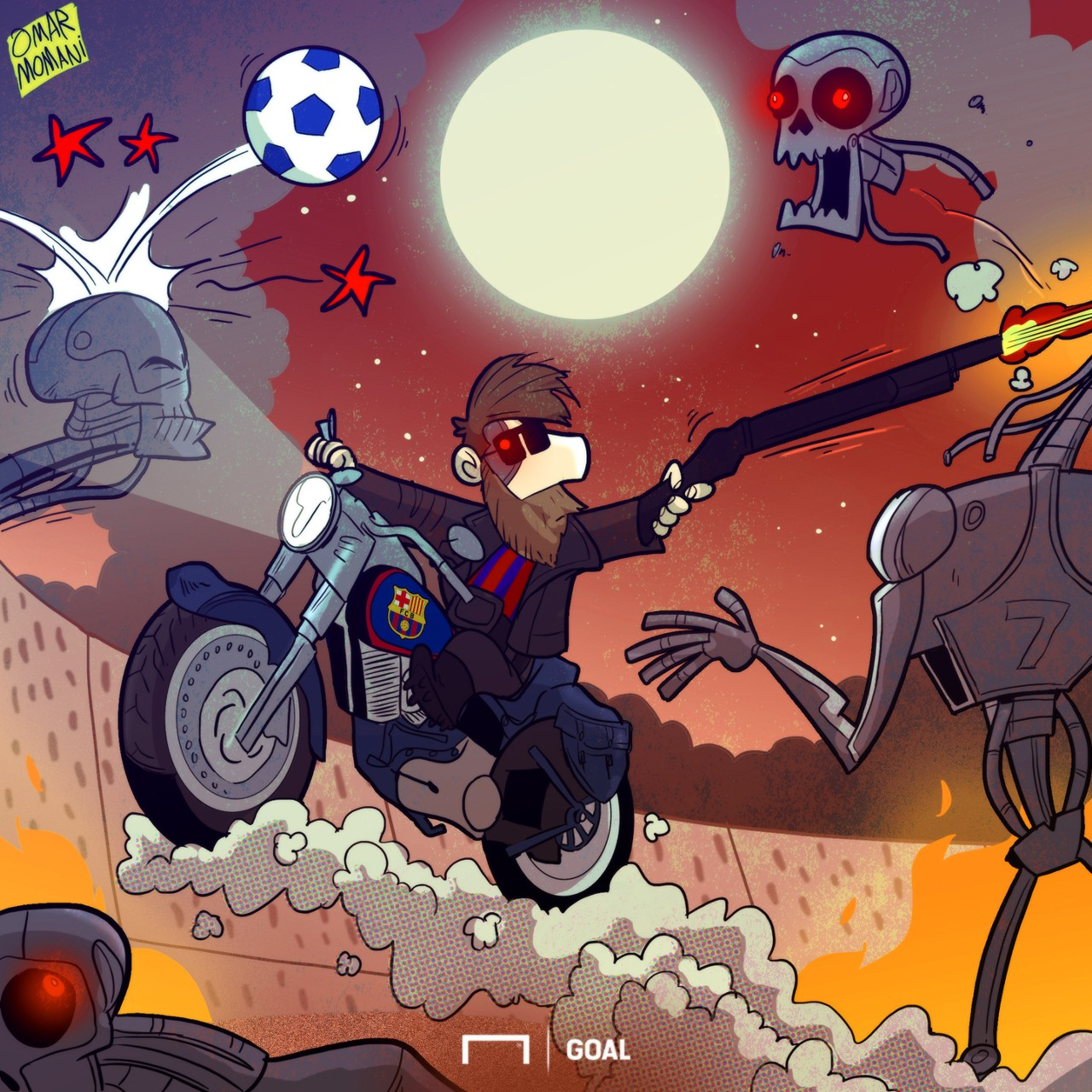 Cartoon: Messi the Terminator