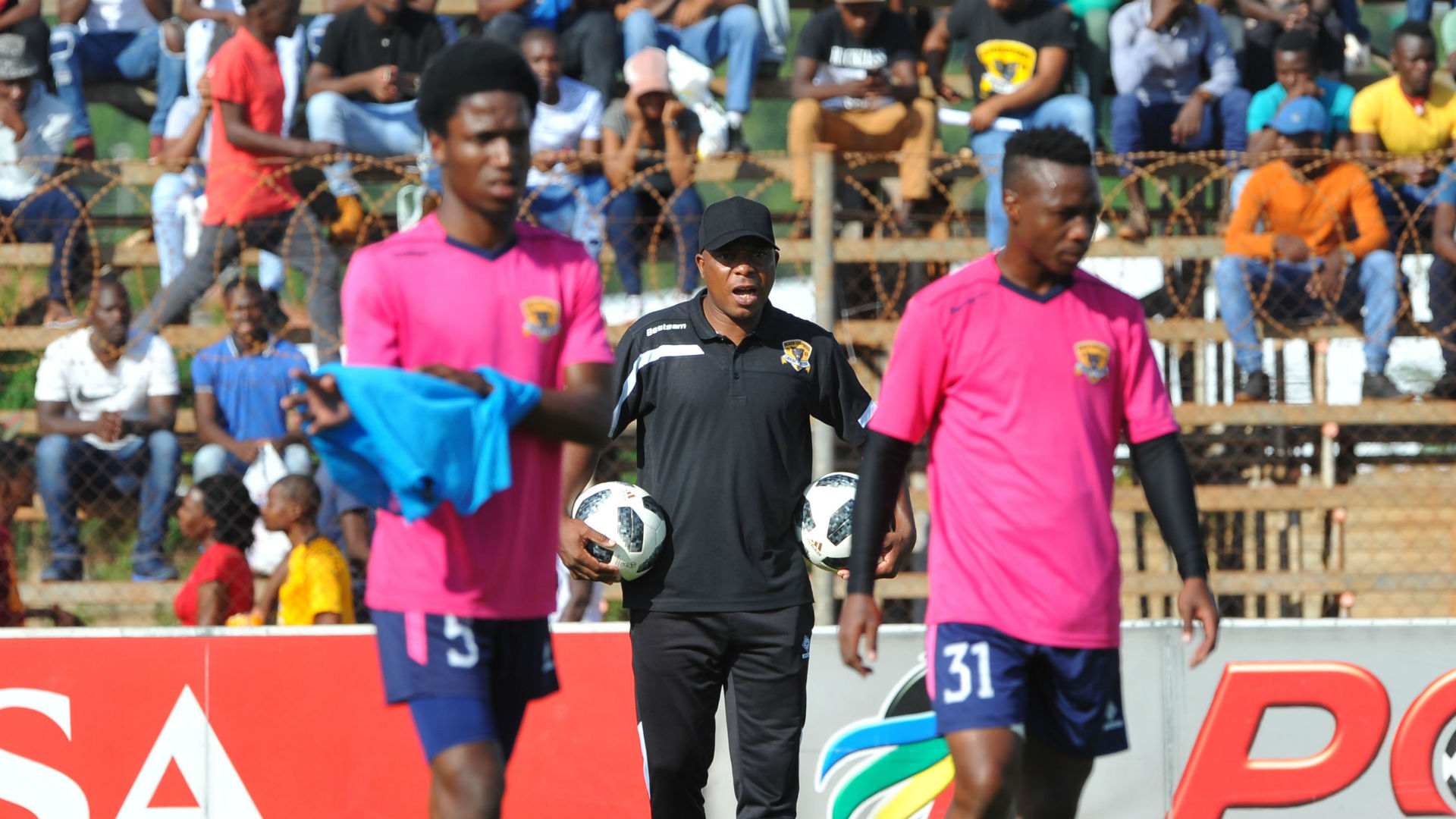 Joel Masutha and Black Leopards players