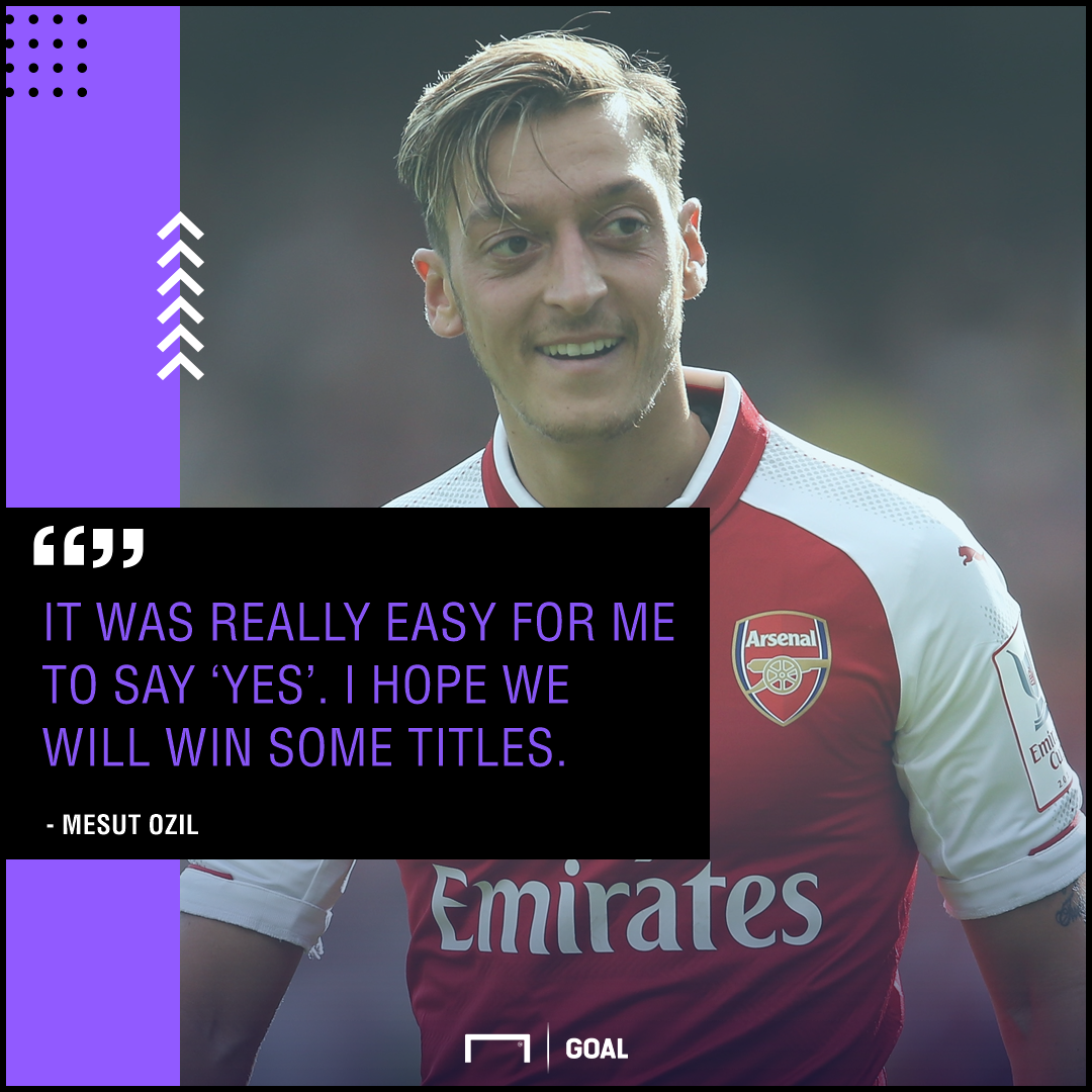 Mesut Ozil easy to say yes