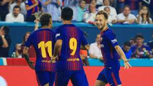Ivan Rakitic Neymar Luis Suarez Barcelona Real Madrid ICC