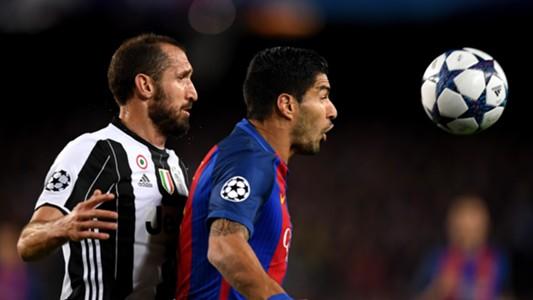 Giorgio Chiellini Luis Suarez Barcelona Juventus UCL 19042017