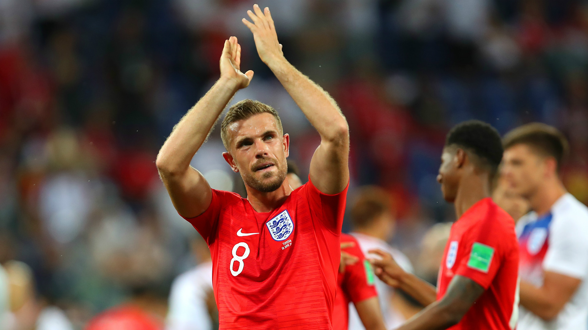 Jordan Henderson England vs Tunisia World Cup