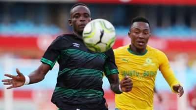Ronald Pfumbidzai and Lebohang Maboe, Sundowns v Bloemfontein Celtic, March 2019