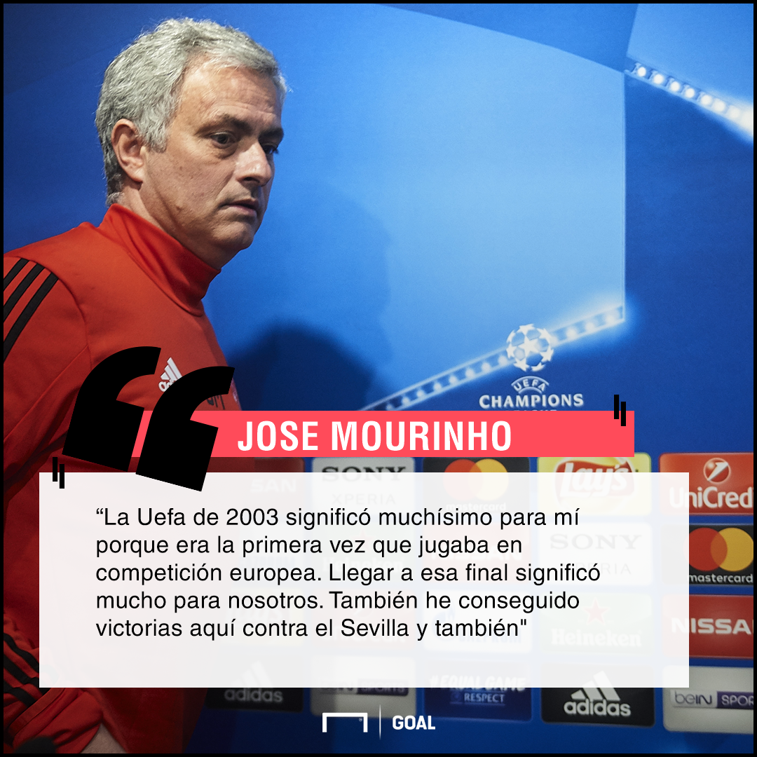 Mourinho sobre la Uefa 2003