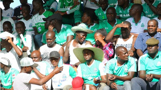 Gor Mahia fans at Machakos Stadium.