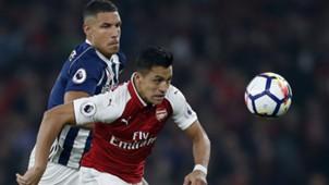 Livermore, Sanchez, West Brom - Arsenal, Premier League, 09252017