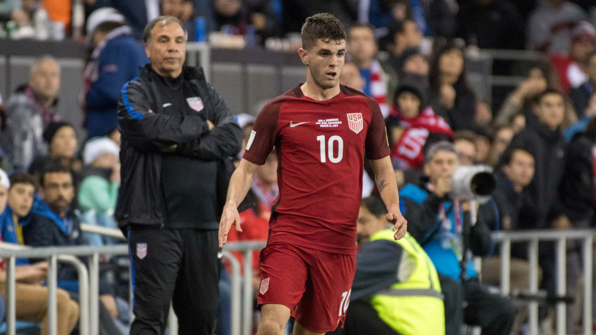 Christian Pulisic Bruce Arena USA