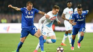 Stefano Sturaro Piotr Zielinski Alex Sandro Napoli Juventus
