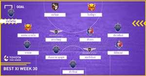 TOYOTA THAI LEAGUE BEST XI : ประจำสัปดาห์ที่ 30