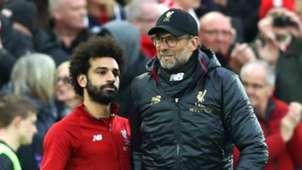 Mohamed Salah Jurgen Klopp Liverpool 2018-19