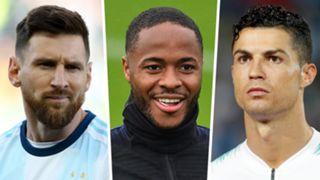 Lionel Messi Raheem Sterling Cristiano Ronaldo