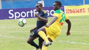 Klinsman Omulanga of Mathare United v Wazito.