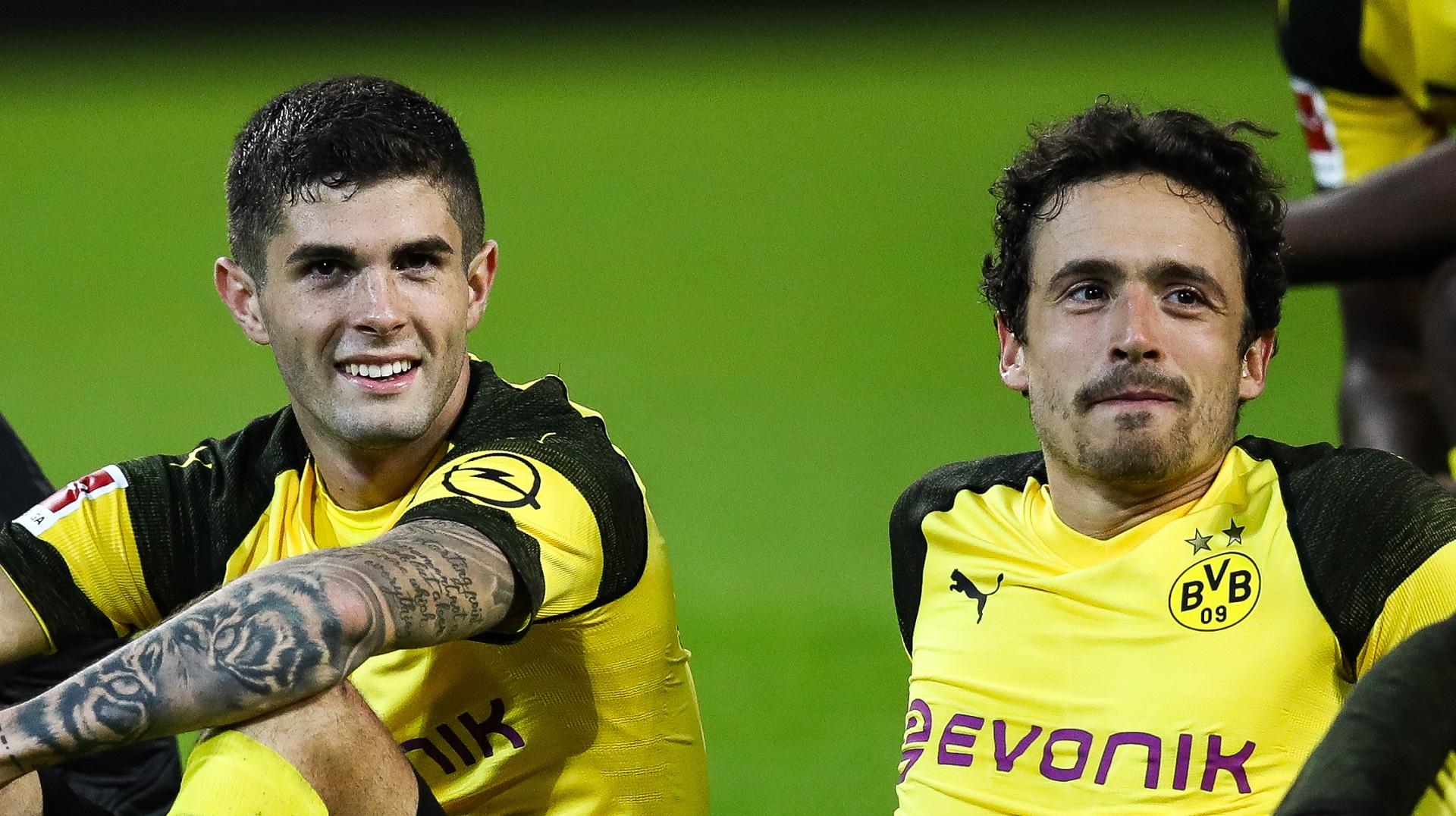 Christian Pulisic Thomas Delaney Borussia Dortmund 26092018