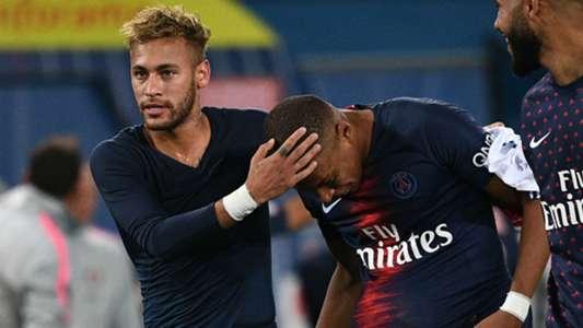 Neymar Kylian Mbappe PSG Lyon Ligue 1 07102018