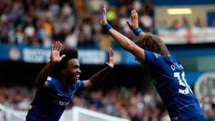 Willian and David Luiz at Chelsea
