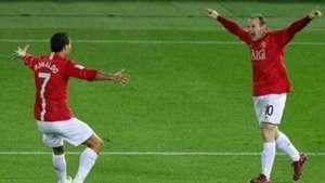 Cristiano Ronaldo Wayne Rooney Manchester United 2008