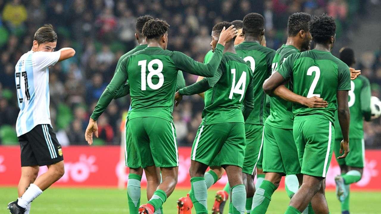 Nigeria celebrate vs Argentina