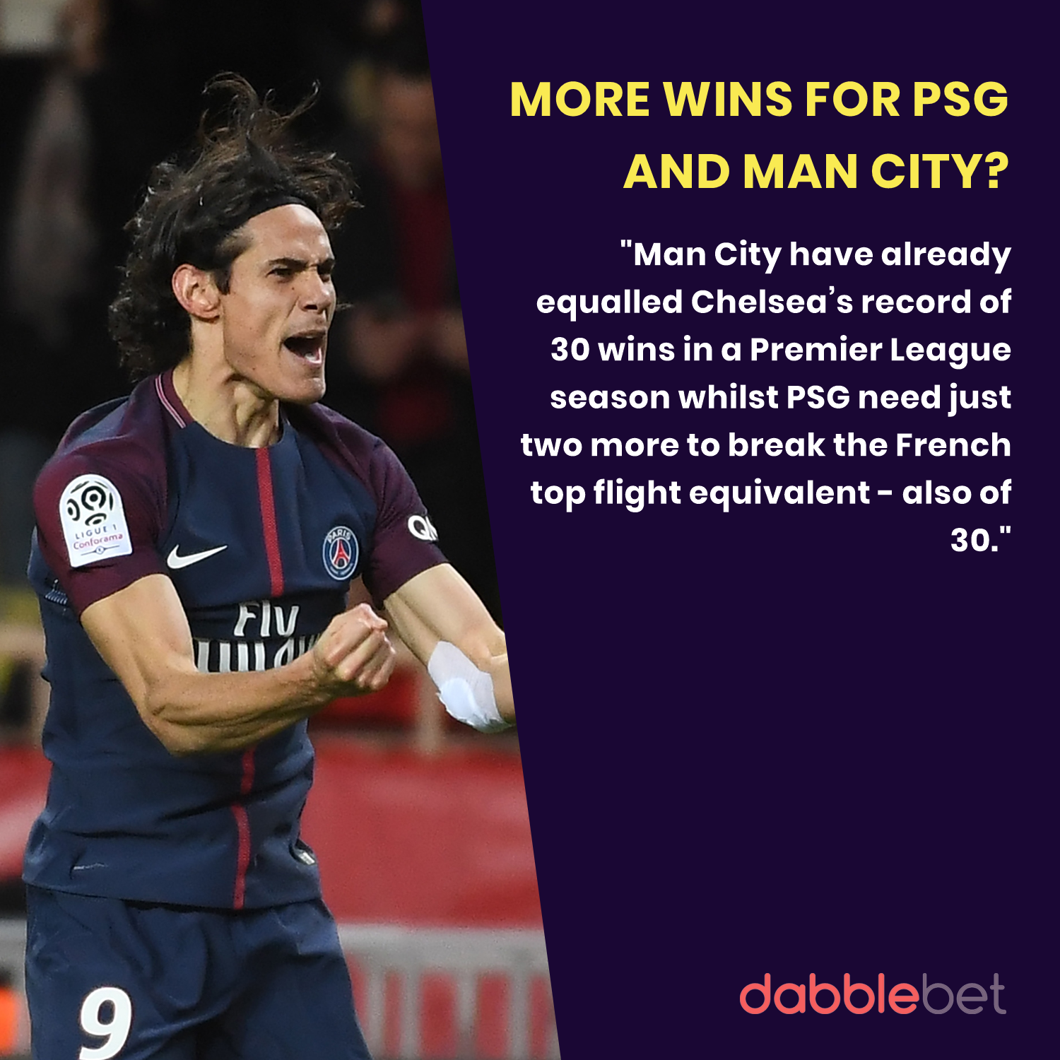 Man City PSG 100 points graphic