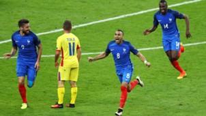 Olivier Giroud Dimitri Payet France Romania Frankreich EM 10062016