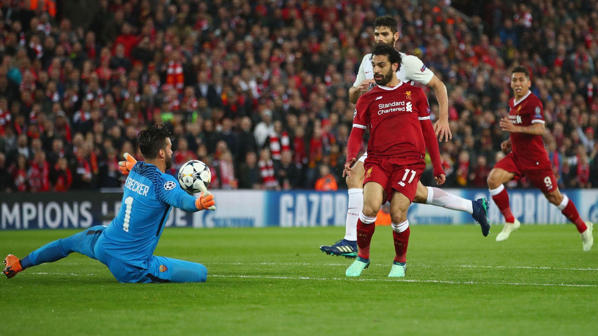 Mohamed Salah scores Liverpool Roma
