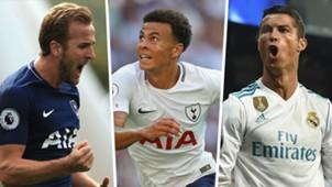 Harry Kane Dele Alli Cristiano Ronaldo Split