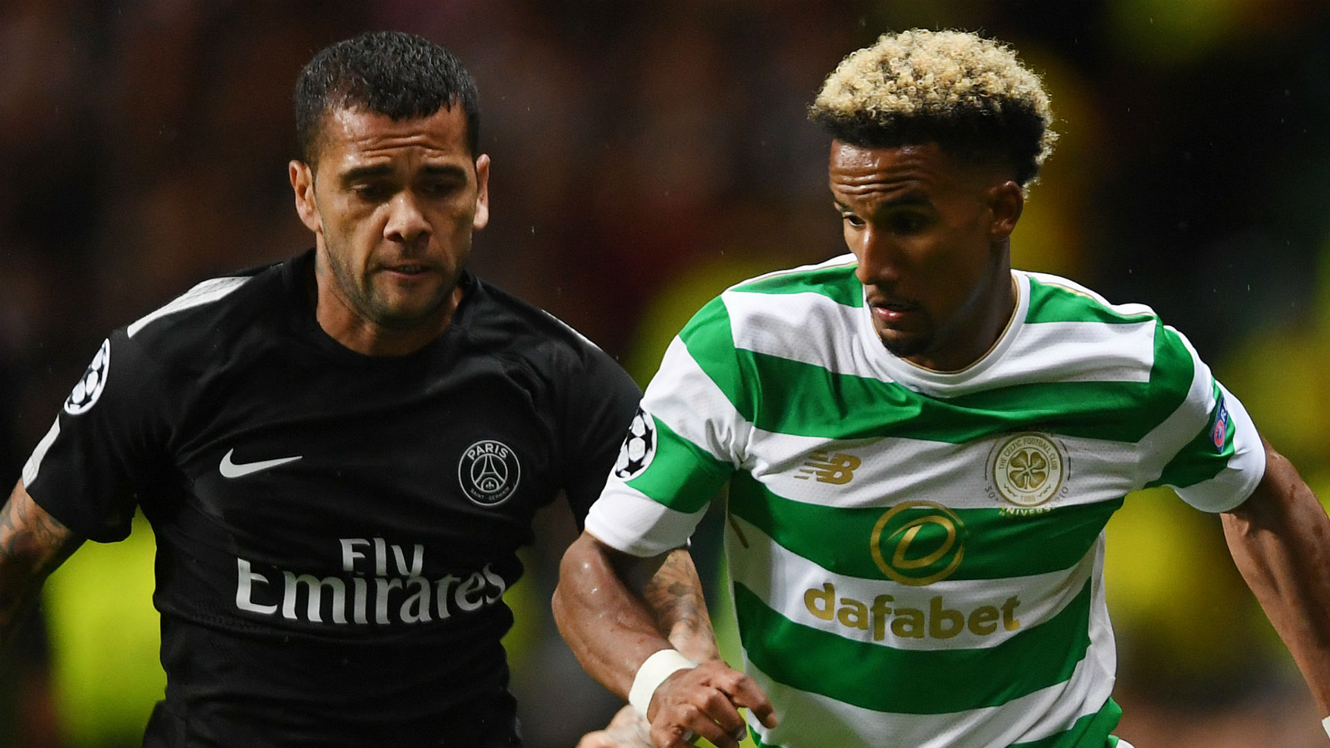 Dani Alves PSG Scott Sinclair Celtic Champions League
