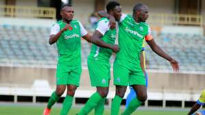 Jacques Tuyisenge Ernest Wendo and Dennis Oliech of Gor Mahia.