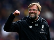 Jurgen Klopp celebrates Liverpool's win at Crystal Palace