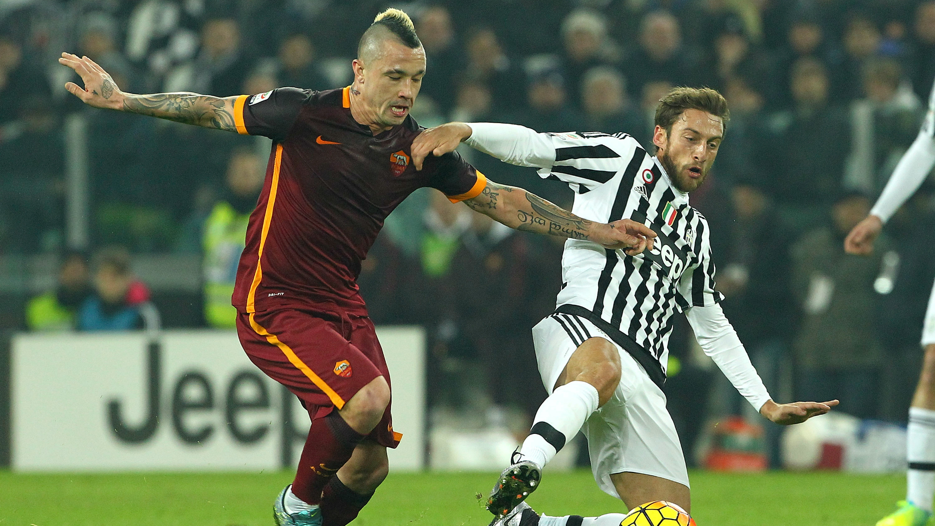 Radja Nainggolan Claudio Marchisio Juventus Roma Serie A 18122016