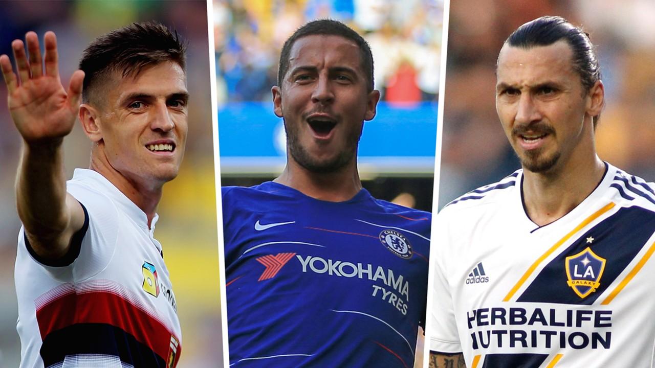 Piatek Hazard Ibrahimovic Madrid striker options