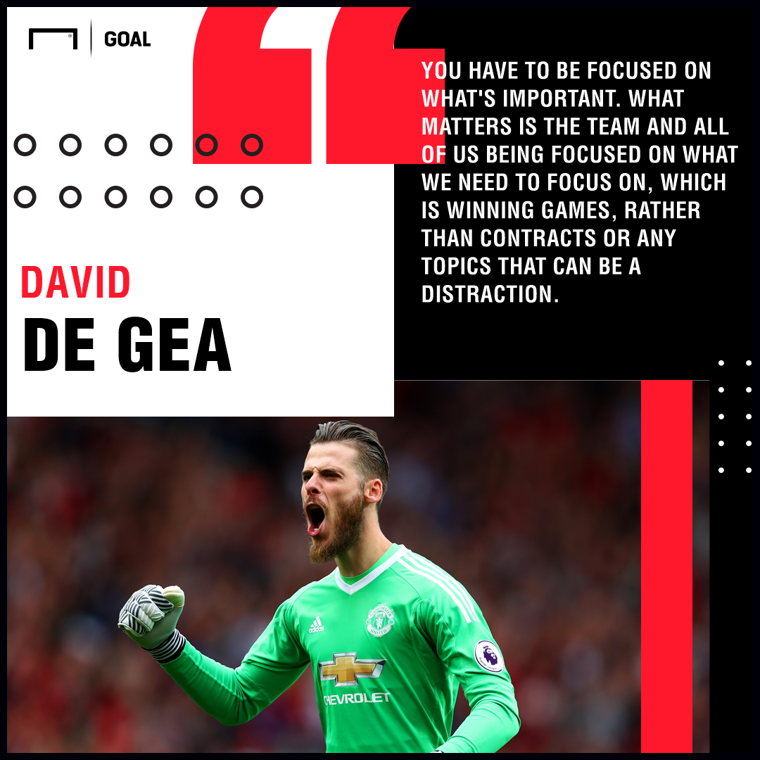 David de Gea quote Manchester United