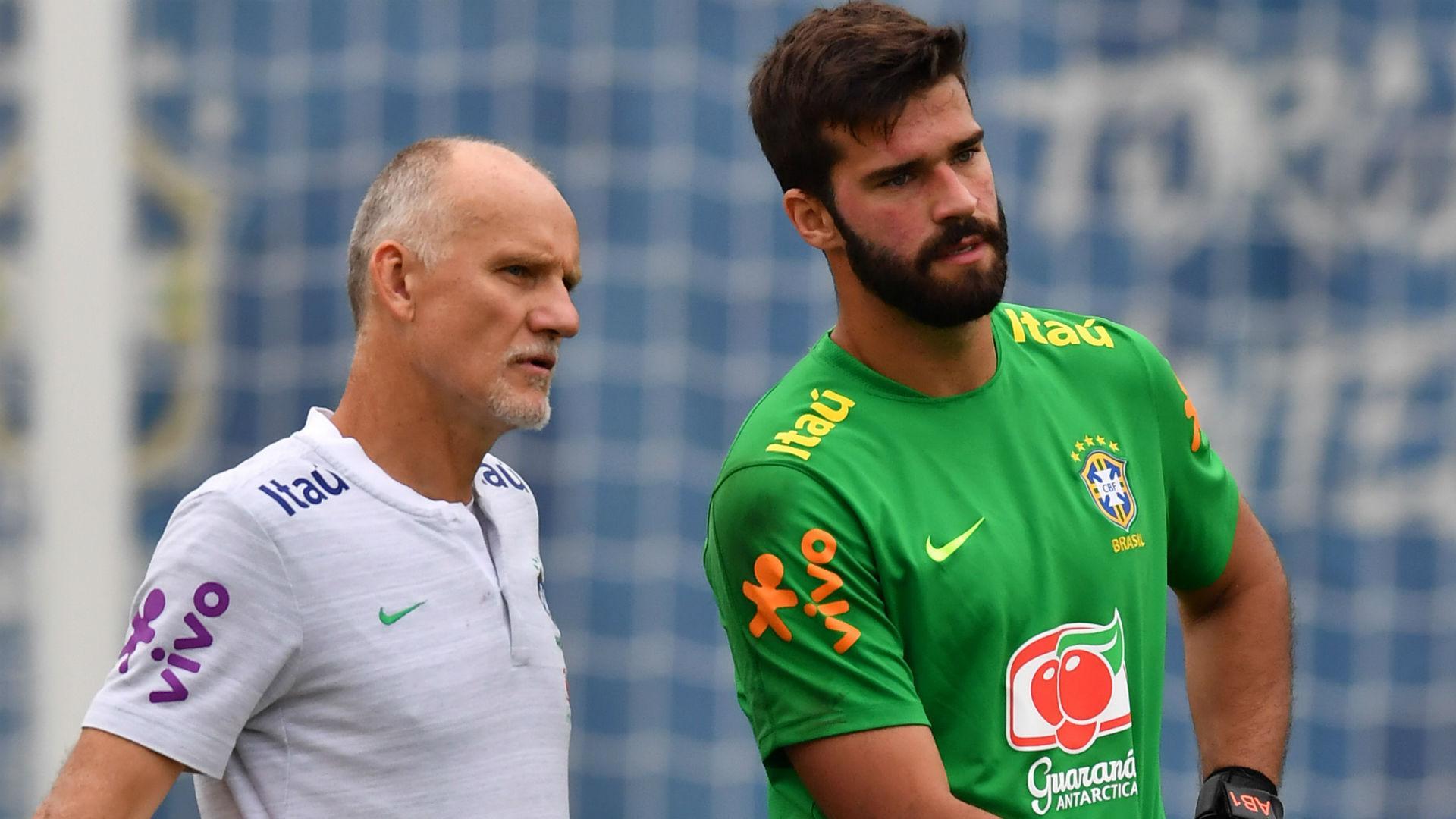 Taffarel Alisson Brasil seleção 13 06 2019