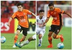Joe Caletti Dane Ingham Brisbane Roar v Muangthong United AFC Champions League 21022017