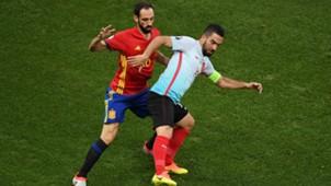 Juanfran Arda Turan Spain Turkey Euro 2016