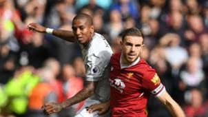 Ashley Young Jordan Henderson Manchester United Liverpool