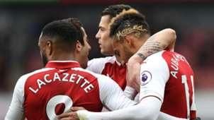 Arsenal celebrate vs Stoke