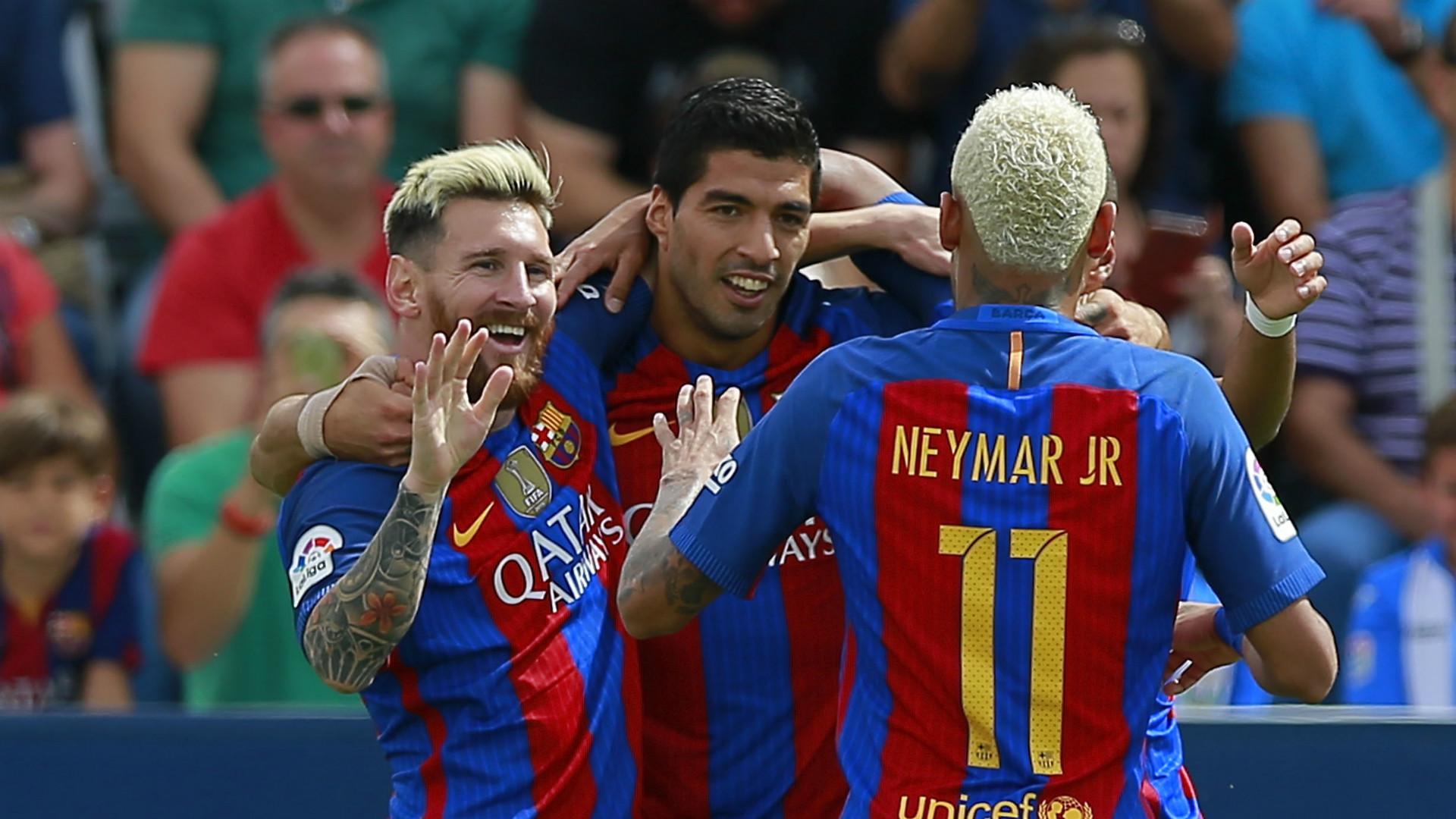 Lionel Messi Luis Suarez Neymar Barcelona La Liga